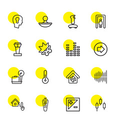 16 control icons vector image