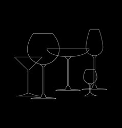abstract drink background white outline of wine vector image
