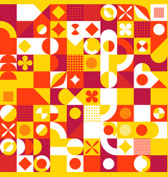 abstract mosaic style color background vintage vector image