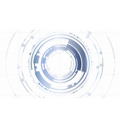 Abstract technology interface hud platform vector