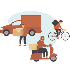 all kind delivery service vector image