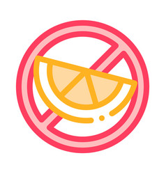 allergen free sign citrus thin line icon vector image