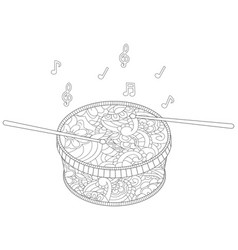 Anti stress musical instrument drum with vector