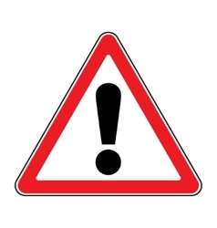 attention sign on white background vector image