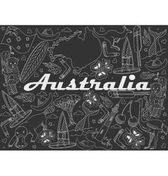 Australia chalk vector