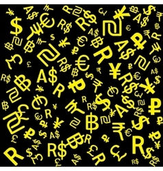 Background of the major world currencies vector image