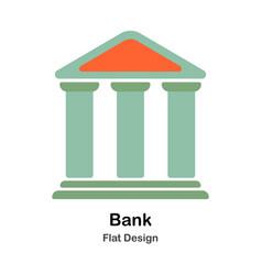 Bank flat vector