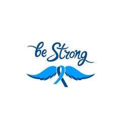 Be strong motivational hand drawn inscription a vector