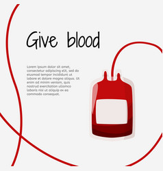 Blood donation graphic design template vector