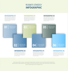 business infographics design template blue grey vector image