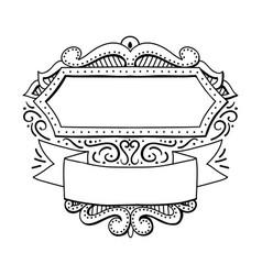 Calligraphy ornamental decorative frame hand drawn vector