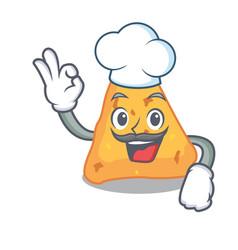 chef nachos character cartoon style vector image