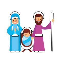 christmas nativity scene holy family jesus mary vector image