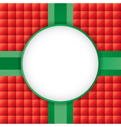 Christmas Present with Circle Copyspace vector