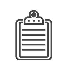 clipboard thin line icon vector image