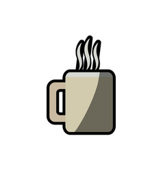 Coffee mug beverage break shadow vector