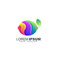 colorful lemon fruit logo design template vector image