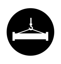Crane weight lifting service vector