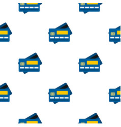 Credit card pattern flat vector