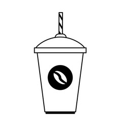 Disposable cup coffee beverage icon image vector