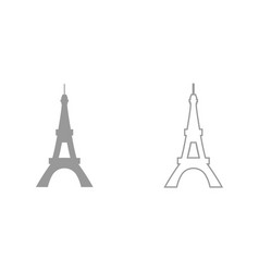 eiffel tower it is black icon vector image