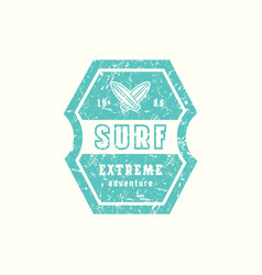 Emblem surfing club vector