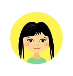 Female face avatar profile head vector image