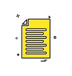 file document list icon design vector image