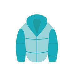 flat warm green jacket icon vector image