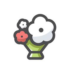 flower summer bouquet icon cartoon vector image