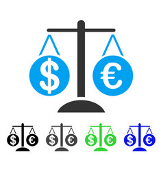 Forex market scales flat icon vector