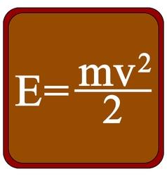 Formula on a brown school board vector