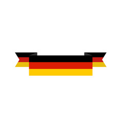germany flag isolated german ribbon banner state vector image