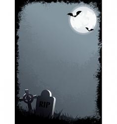 Grunge Halloween border vector