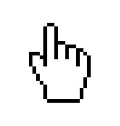 hand cursor mouse icon cursor pixel pointer vector image