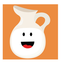happy milk on white background vector image