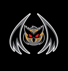 head owl logo vector image