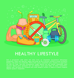 Health life items concept cartoon style vector