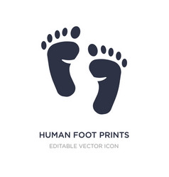 Human foot prints icon on white background simple vector