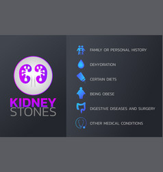 kidney stones icon design infographic health vector image