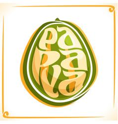 Logo for papaya vector