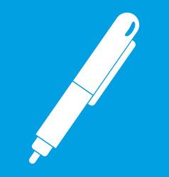 marker pen icon white vector image