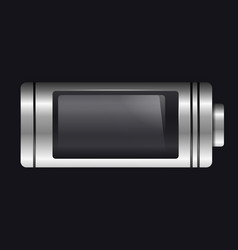 metal with glass battery empty charge vector image