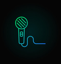 microphone outline mic icon or symbol vector image