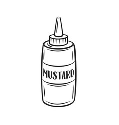 Mustard outline icon vector