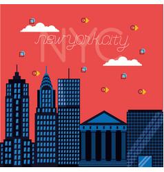 new york city card vector image