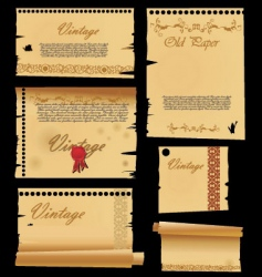 Old paper with ornaments vector