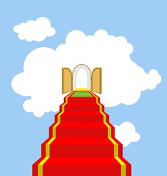 Open gates of paradise Ladder into clouds Degree vector