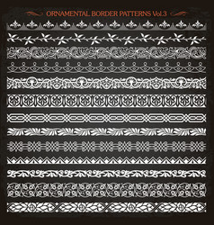 Ornamental border frame line vintage patterns 3 vector