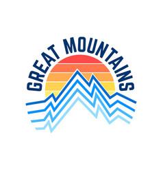 outdoor adventure logo tee slogan letter vector image